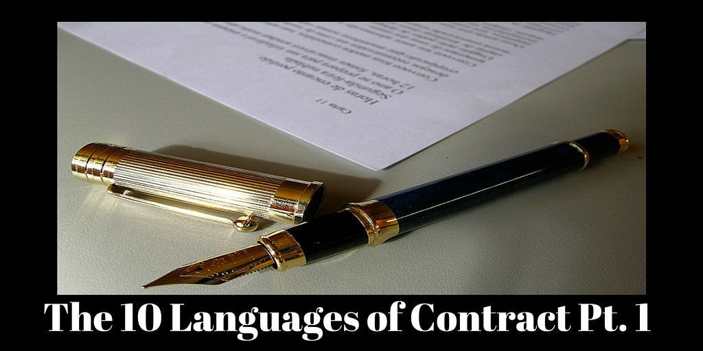 Picture of  contract with pen