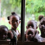 kids by window