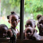 kids by window