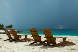 picture of beach with chairs